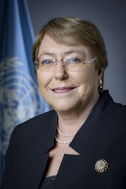 Portrait for incoming HC for Human Rights, Ms. Michelle Bachelet